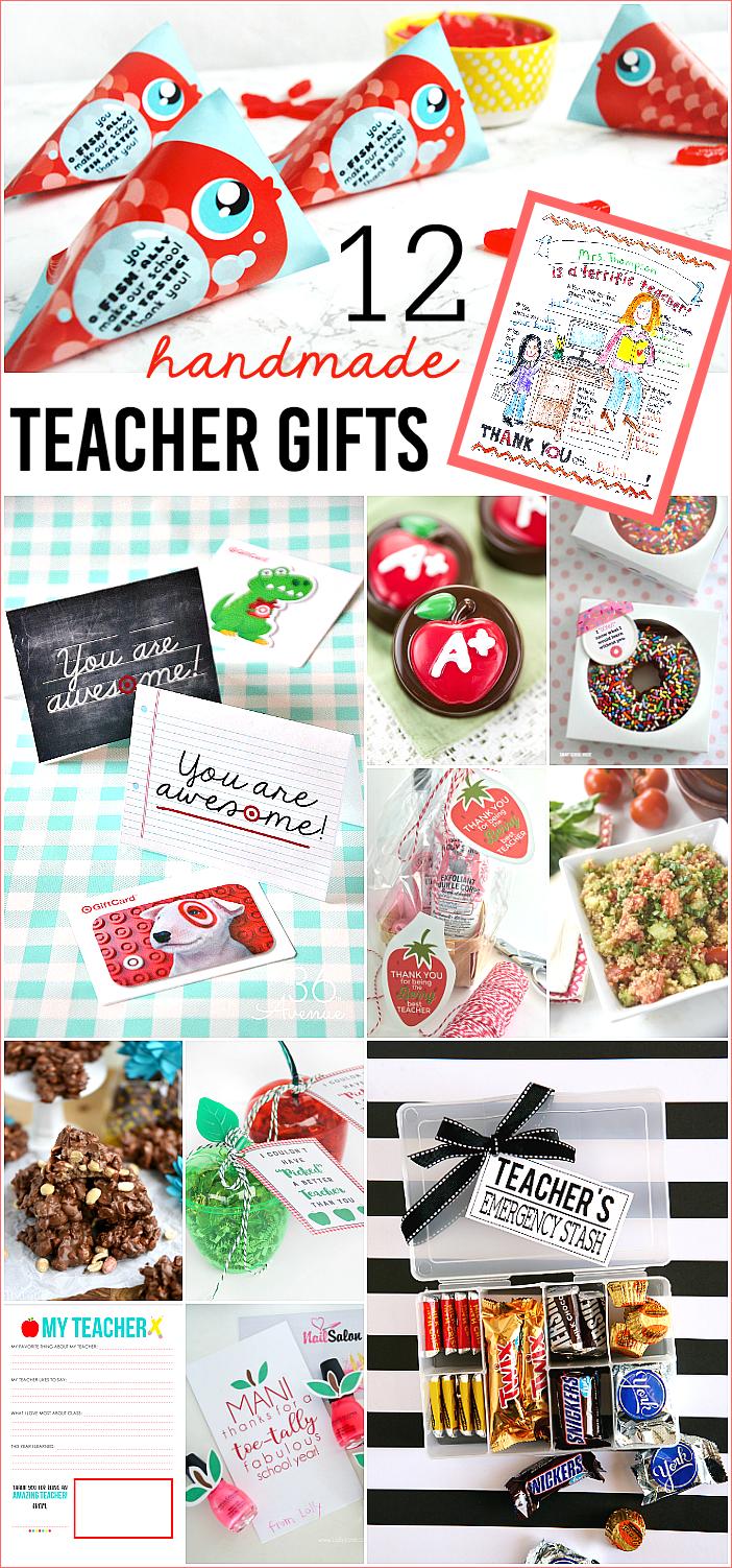 12 Handmade Teacher Gifts | Teacher Appreciation Gift Ideas