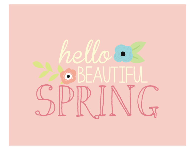 Hello Beautiful Spring Print | Free Printable Art
