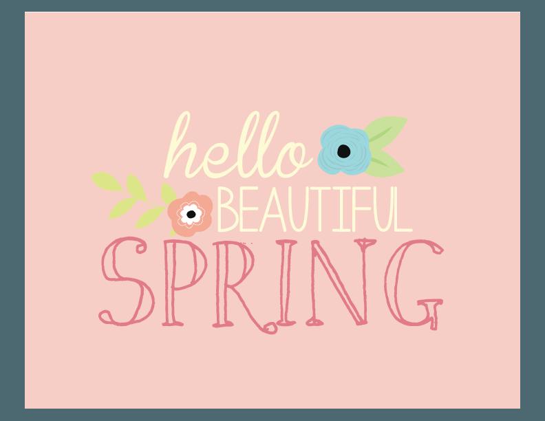 Hello Beautiful Spring Print | Free Printable Art