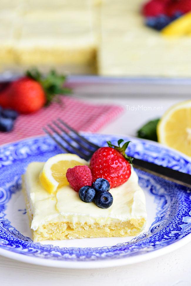 Lemon Sheet Cake from Tidy Mom