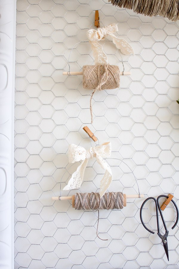 DIY Farmhouse Style Twine Dispenser via Making it in the Mountains
