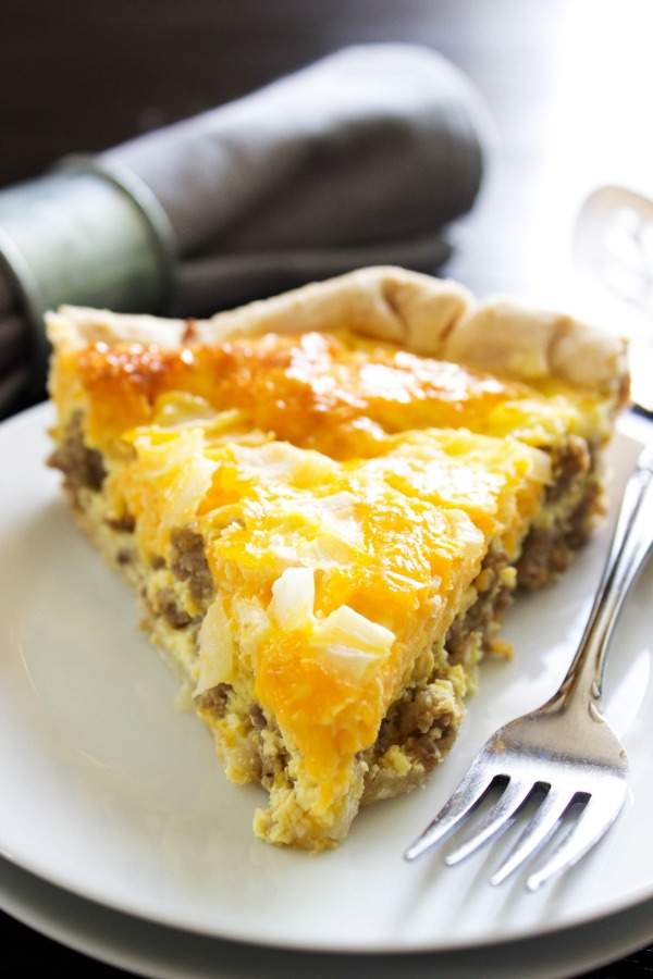 Easy Sausage Breakfast Quiche from A Dash of Sanity