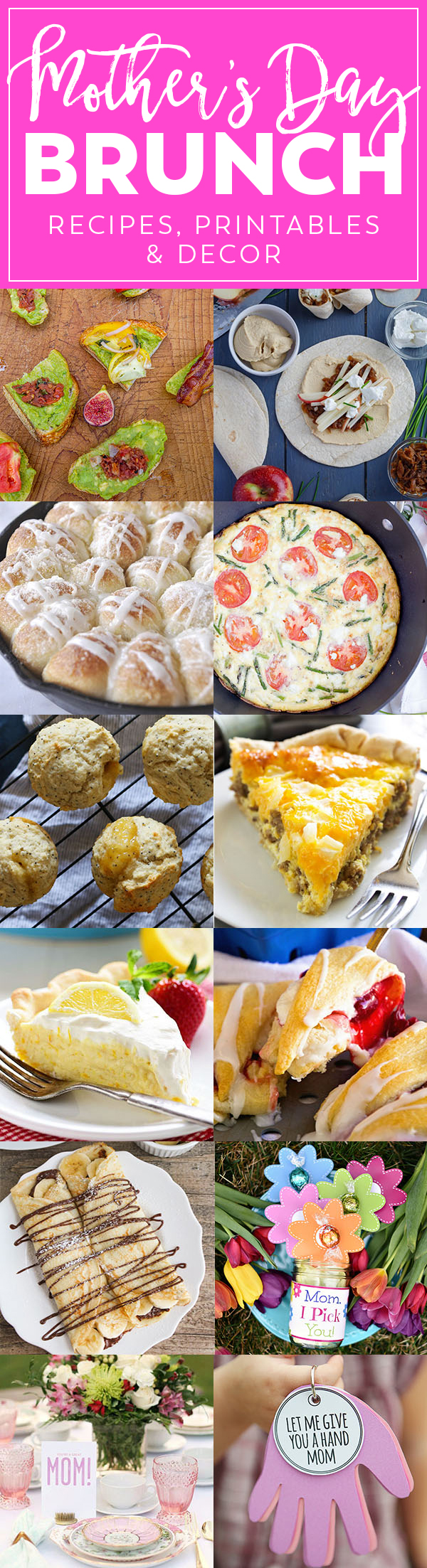 Mother's Day Brunch Meal Plan | Mother's Day Recipes, Printables and Decor
