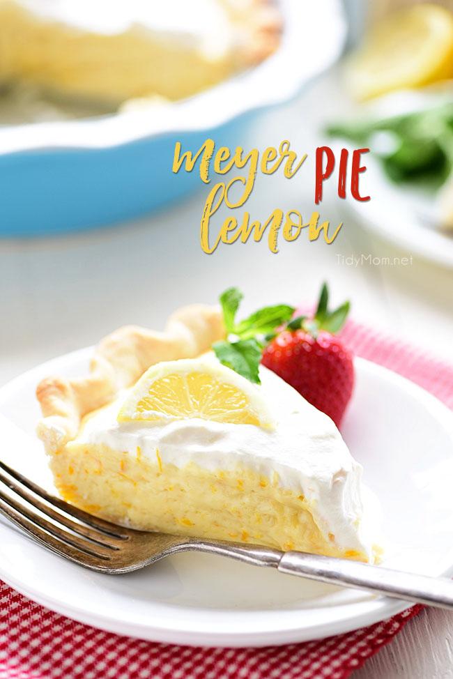 Meyer Lemon Pie from Tidy Mom