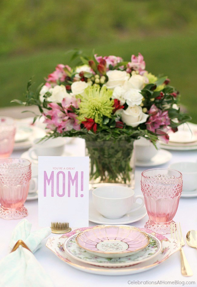 Mother's Day Brunch Table from Celebrations at Home
