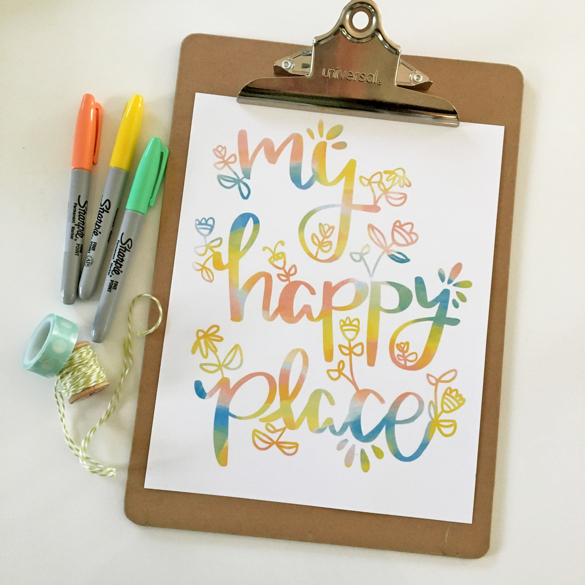My Happy Place Print | Free Printable Art