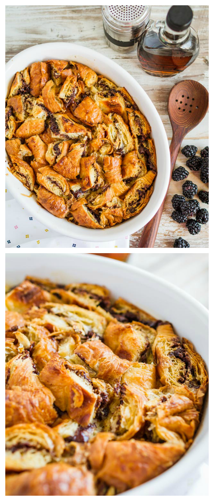Nutella Stuffed Croissant French Toast Casserole | Breakfast Casserole Recipes