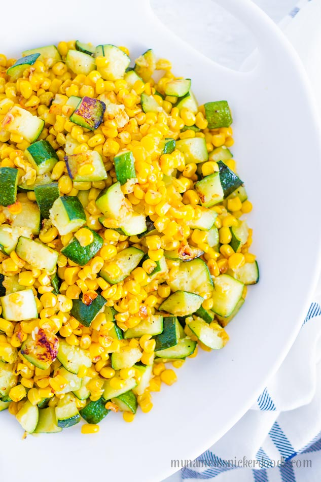 Sauteed Corn and Zucchini