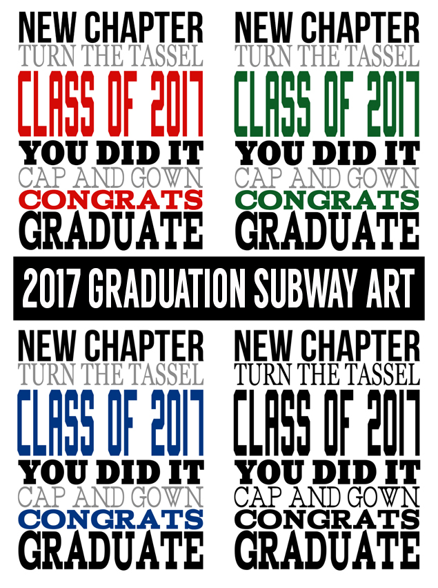 Graduation Subway Art for 2017 | Graduation Party Ideas