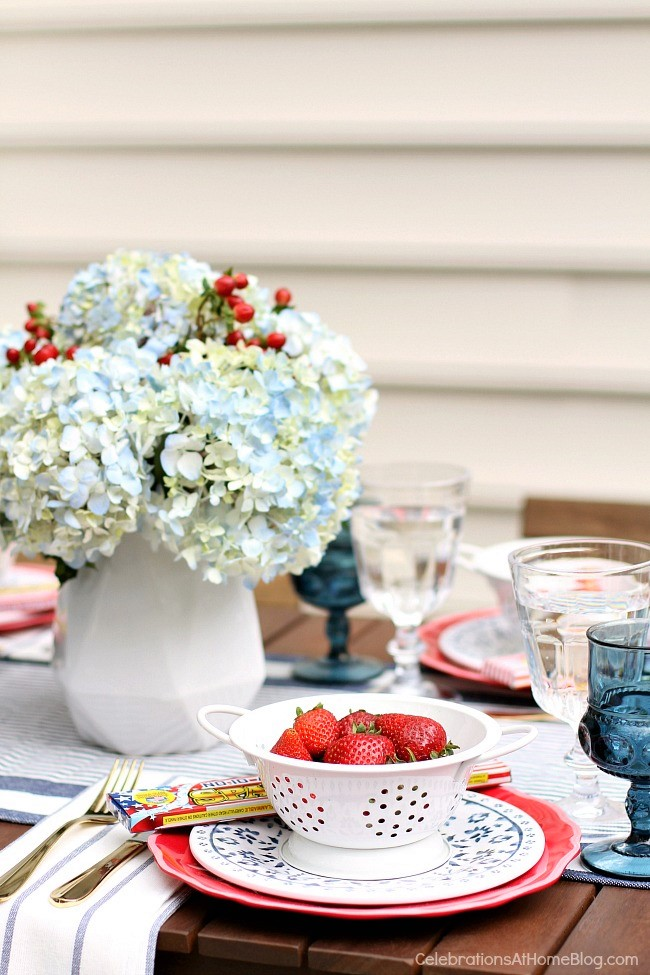 RED, WHITE and BLUE PARTY INSPIRATION from Celebrations At Home