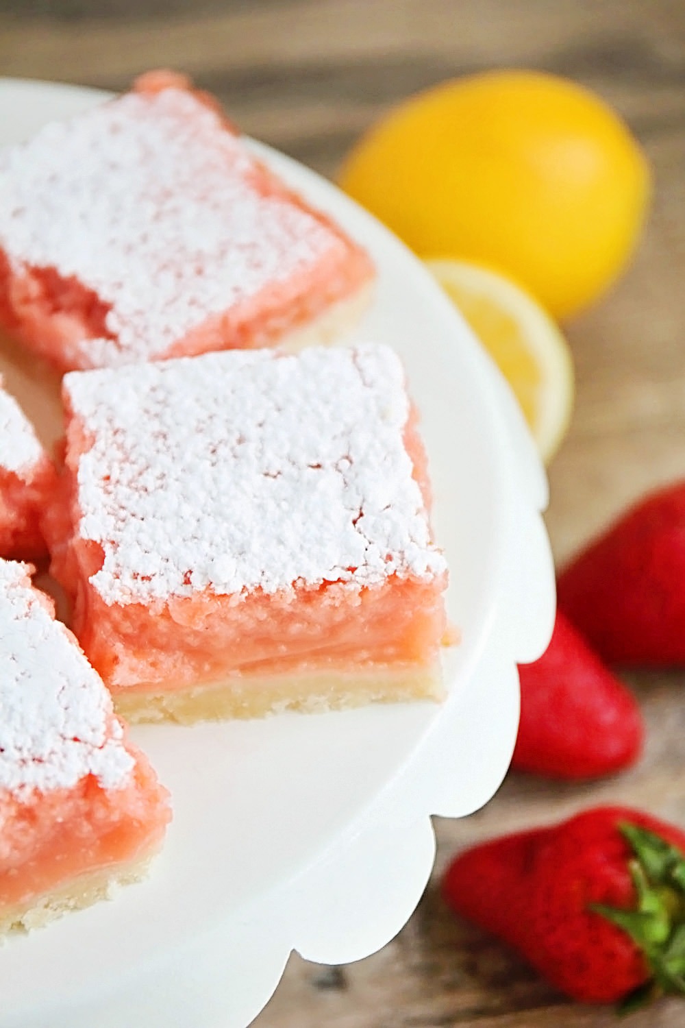 STRAWBERRY LEMONADE BARS from The Baker Upstairs