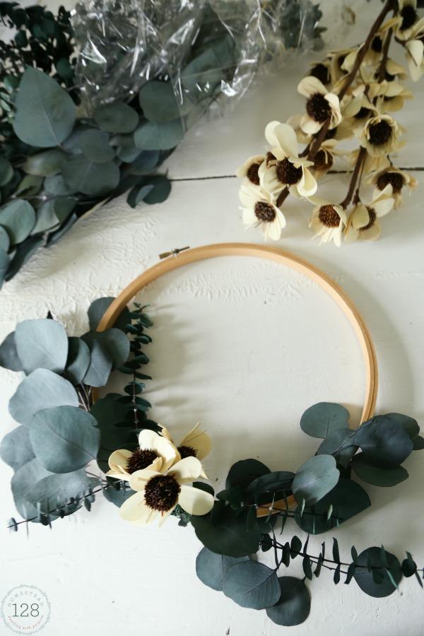 Eucalyptus Hoop Wreath via Homestead 128