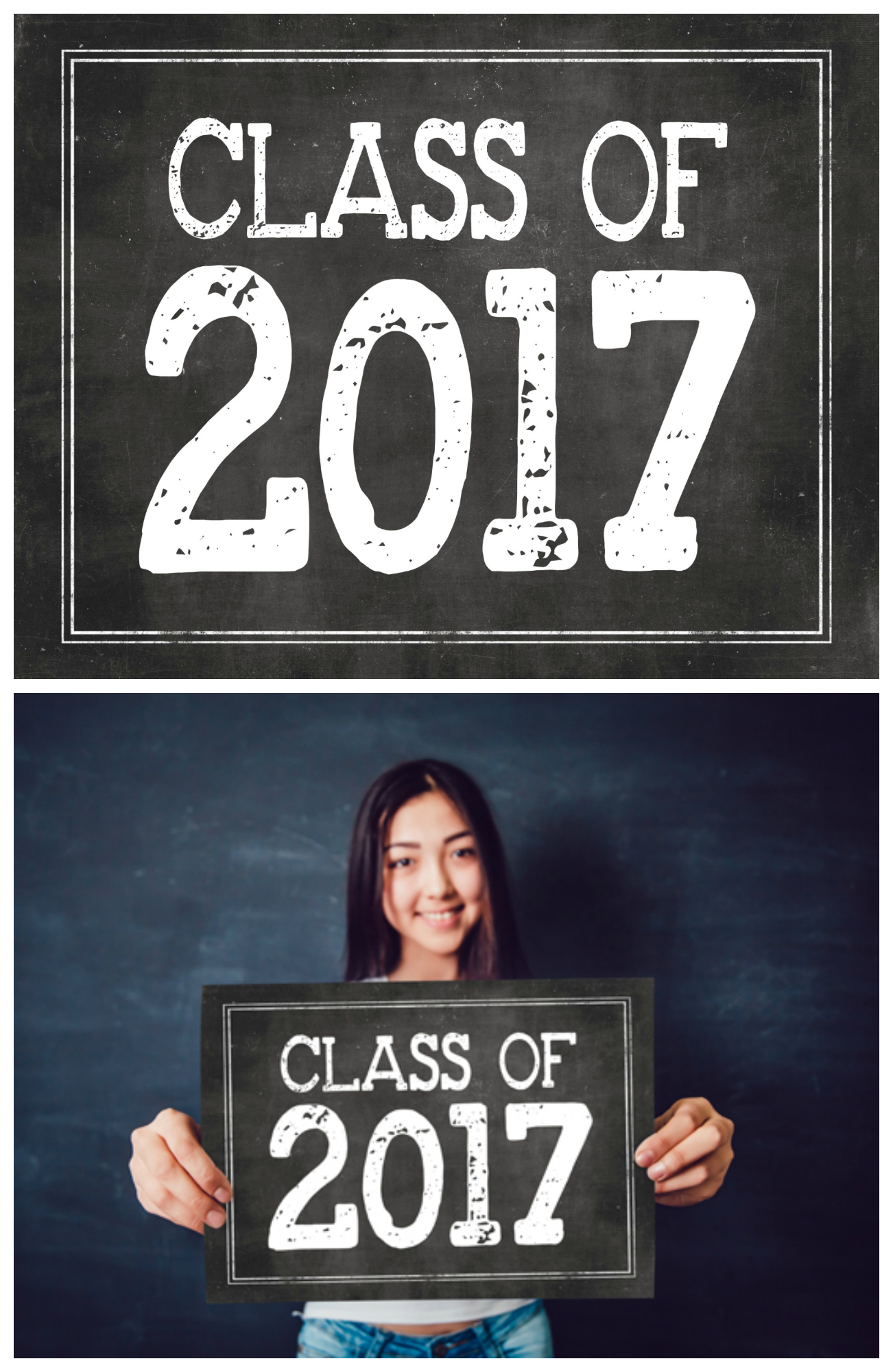 Class of 2017 Free Print | Graduation decoration and works great for a graduation photo prop