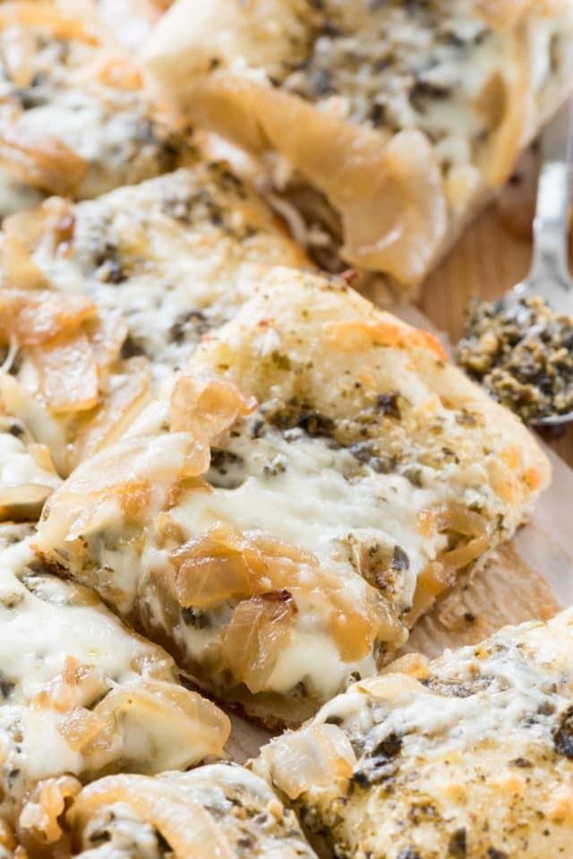 Caramelized Onion Flatbread Pizza from Crazy for Crust