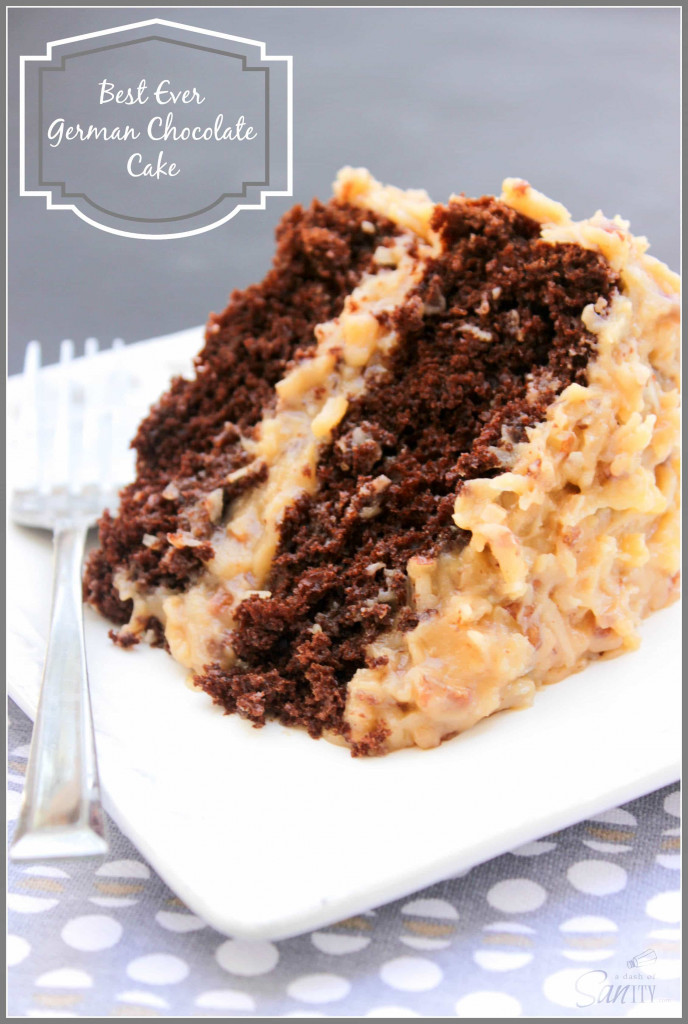Best Ever German Chocolate Cake from A Dash of Sanity