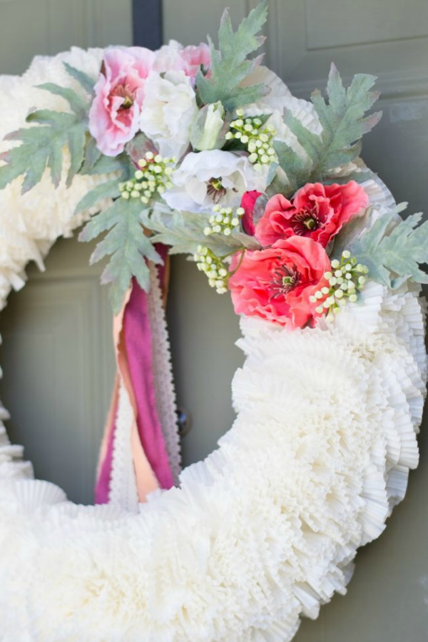 Quick and Easy Mother's Day Wreath via seeLINDSAY