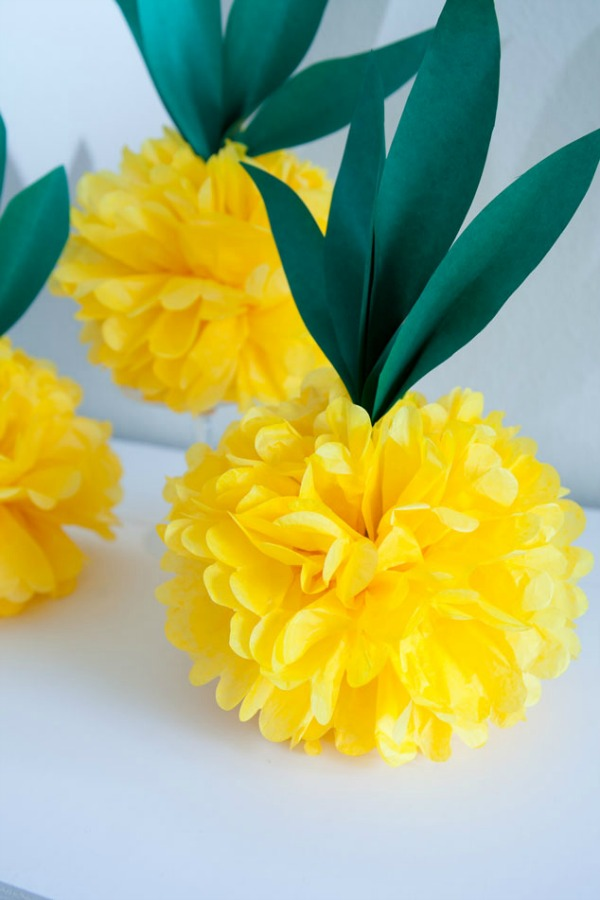 Tissue Paper Pineapple via Frog Prince Paperie
