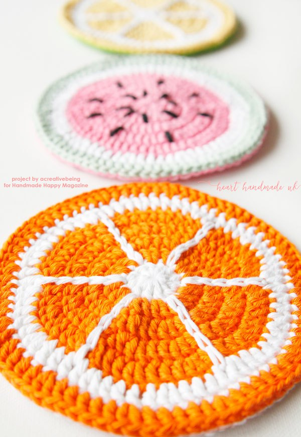How to Crochet Fruity Potholders via Heart Handmade