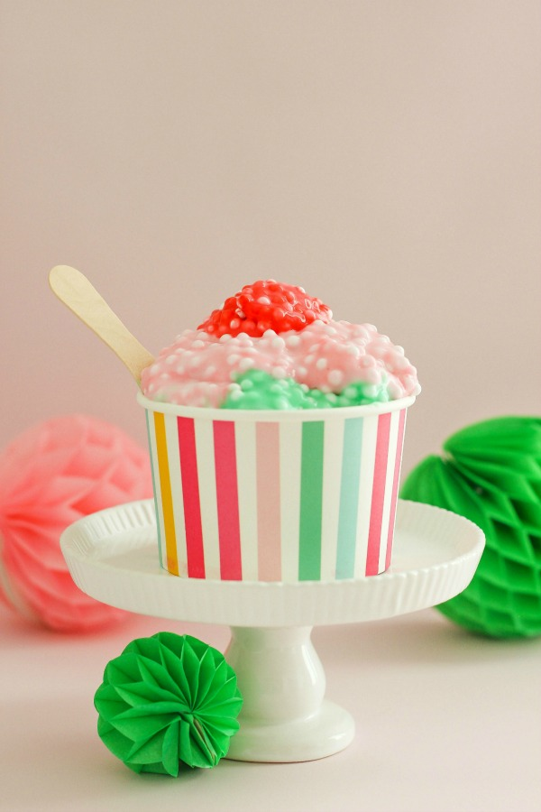 Ice Cream Sundae Slime via The Casual Craftlete