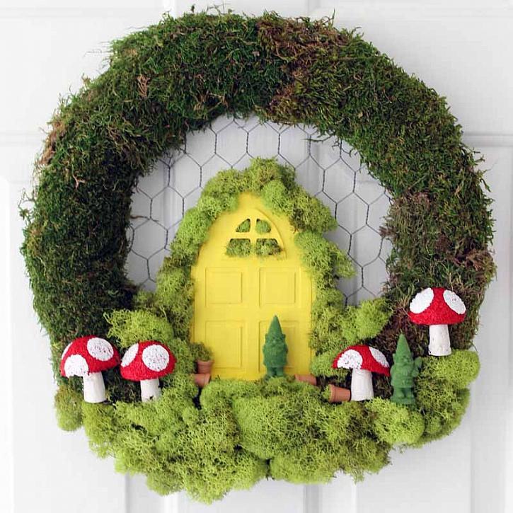 DIY Fairy Garden Wreath via DecoArt