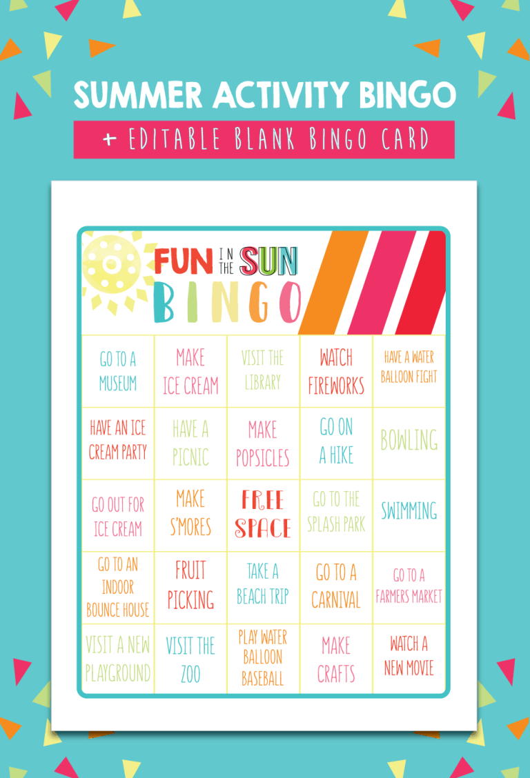 Summer Activity Bingo
