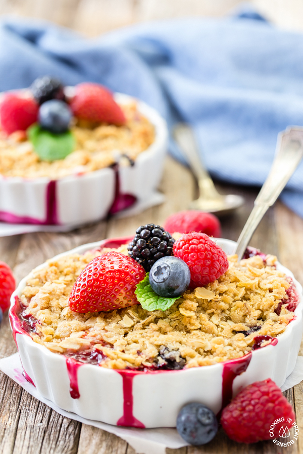 Easy Mixed Berry Crisp via Cooking on the Front Burner