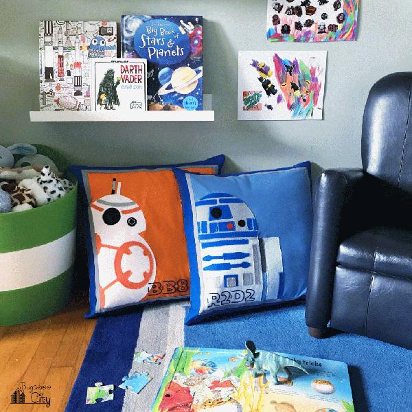 DIY Felt Applique Star Wars Pillows via Bugaboo City
