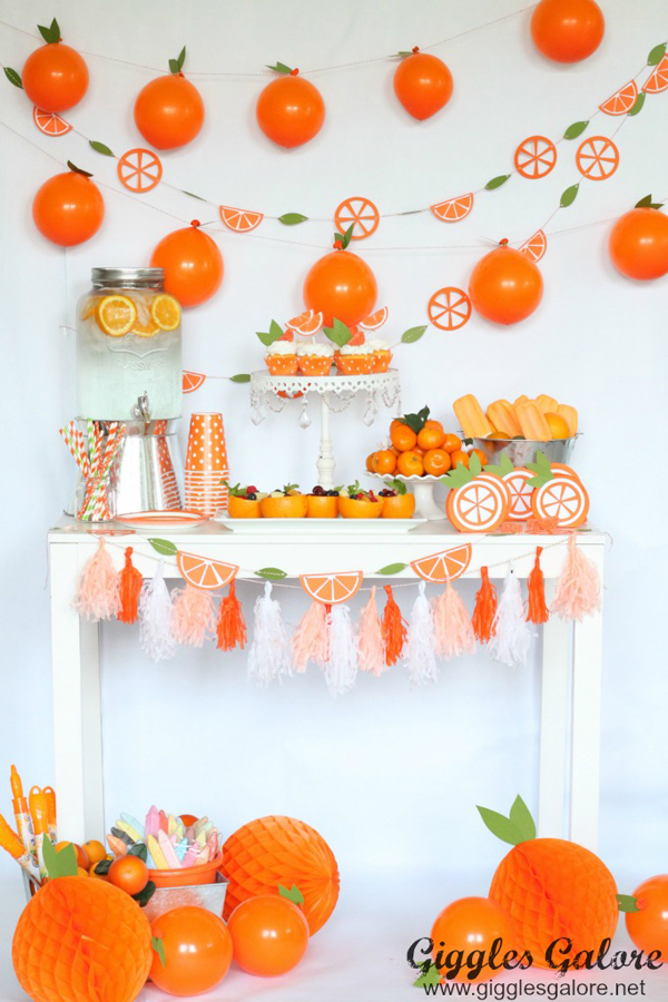 Orange You Glad It's Summer Party via Giggles Galore
