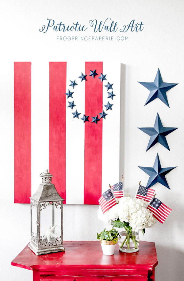 Patriotic Wall Art via Frog Prince Paperie