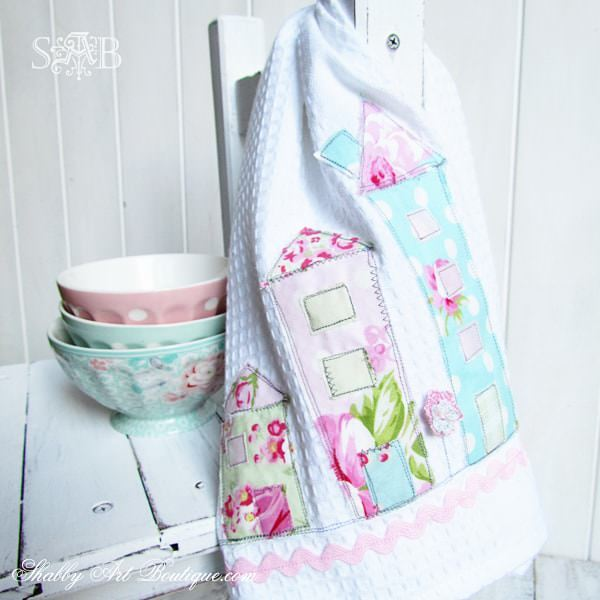 How to Applique Tea Towels via Heart Handmade
