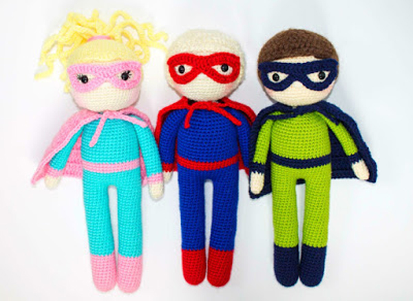 The Friendly Superhero Crochet Pattern via The Friendly Red Fox