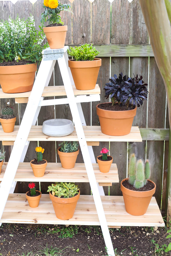 Tiered Ladder Garden via Love and Renovations