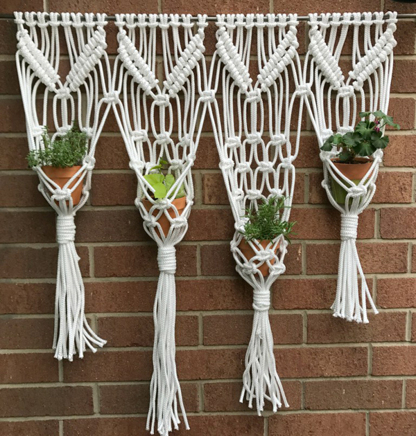 Macrame Hanging Herb Garden via My French Twist