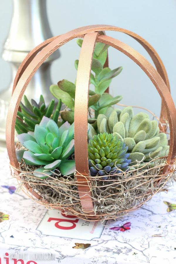 Embroidery Hoop DIY Terrarium Globe via Lydi Out Loud