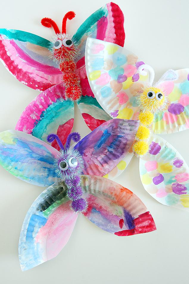 Paper Plate Butterfly Craft | Kids Craft Ideas
