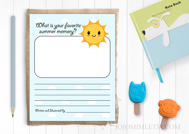 Draw and Write Summer Activity Page