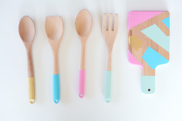 Easy Color Blocked Utensils via Run to Radiance