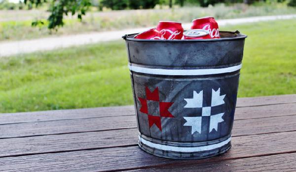 Patriotic Barn Quilt Beverage Cooler via Knick of Time