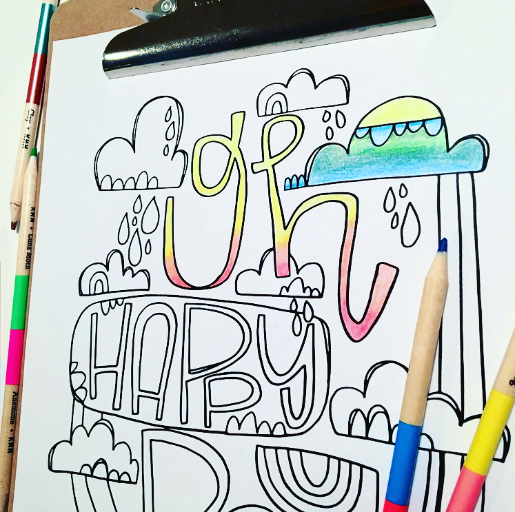 Oh Happy Day Free Printable Coloring Sheet