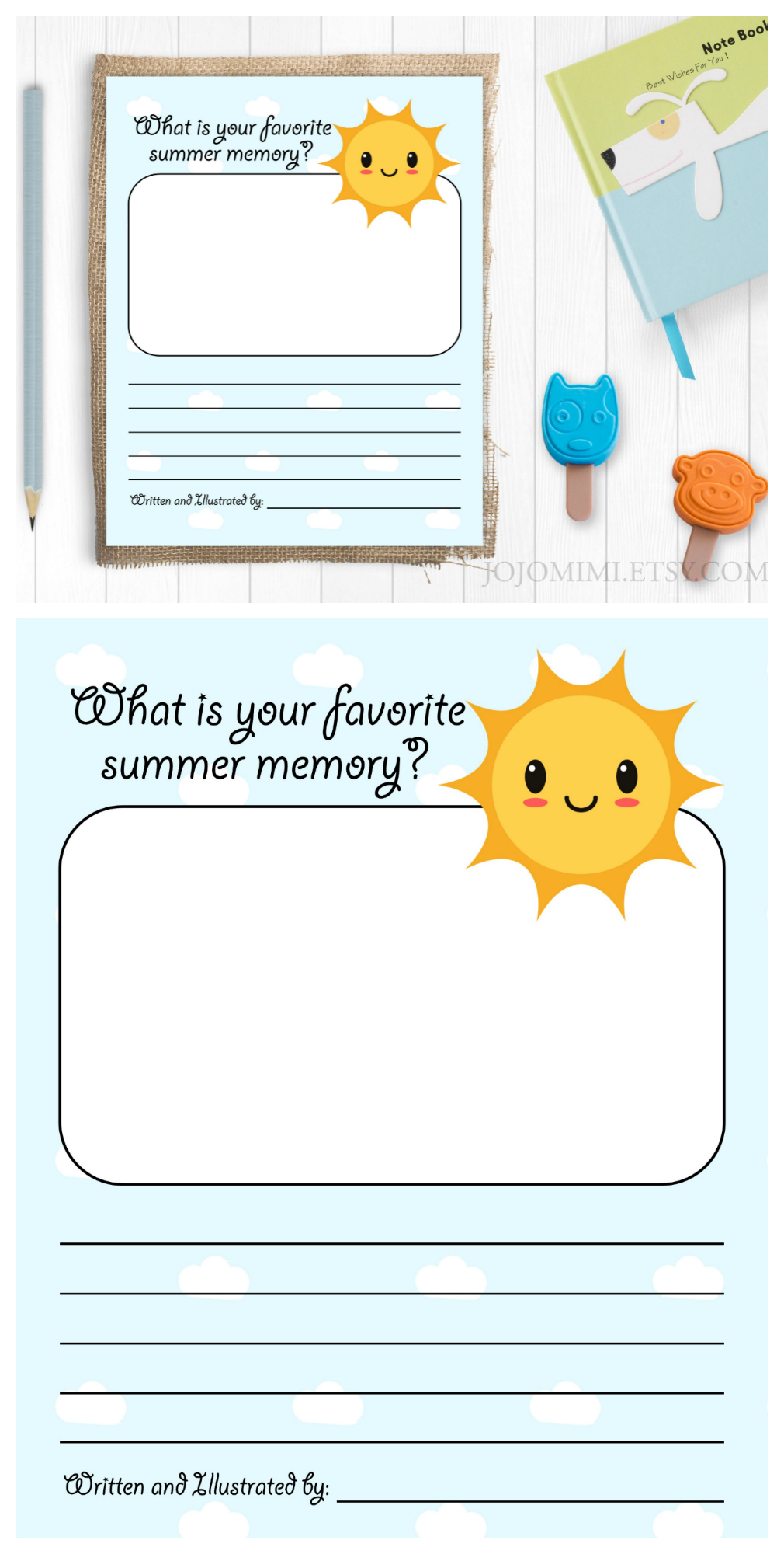 Draw and Write Summer Activity Page - Free Printable!