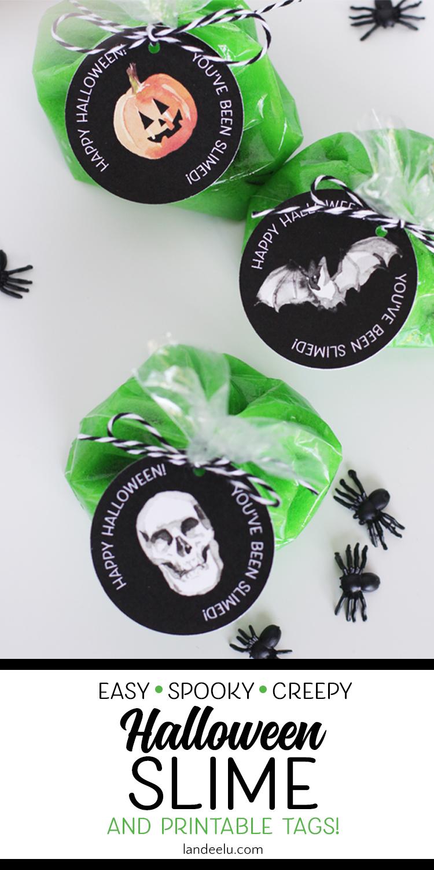 Halloween Slime with Free Printable Tags!