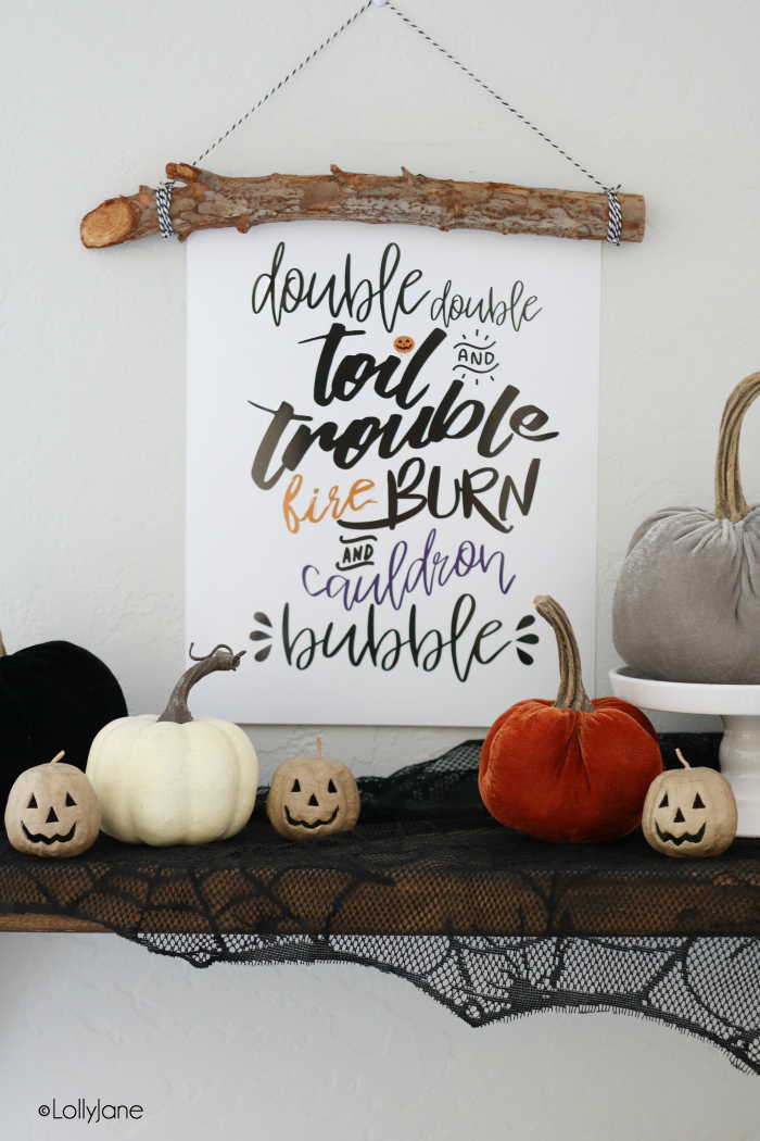 Double Double Toil and Trouble Halloween Decoration