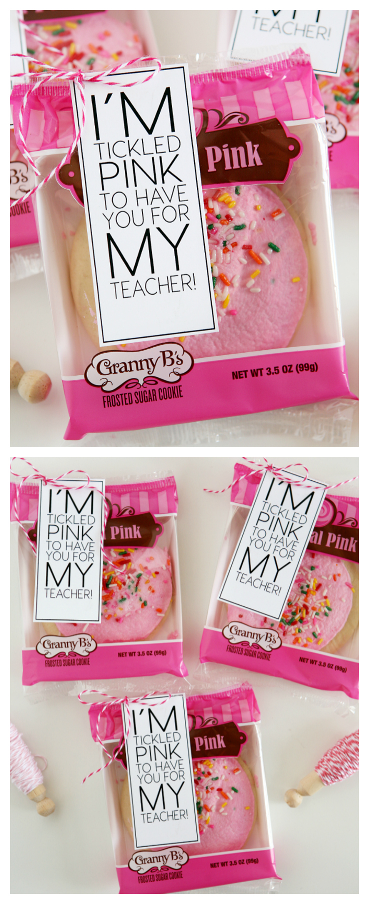 I'm Tickled Pink To Have You For My Teacher | Back to School Teacher Gifts