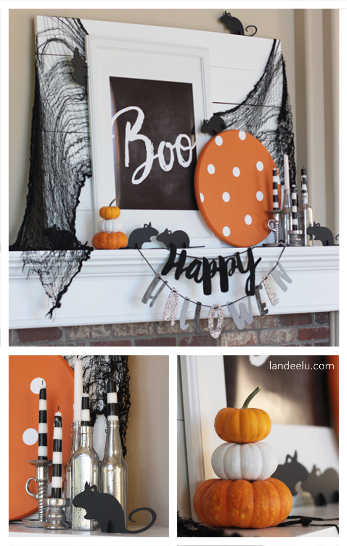 BOO Halloween Mantel