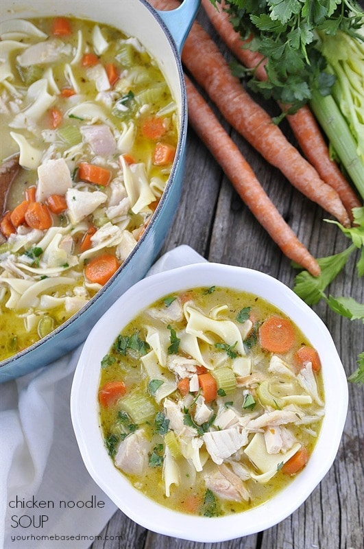 Chicken Noodle Soup from Your Homebased Mom.