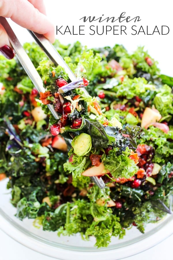 Winter Kale Super Salad from A Dash of Sanity.