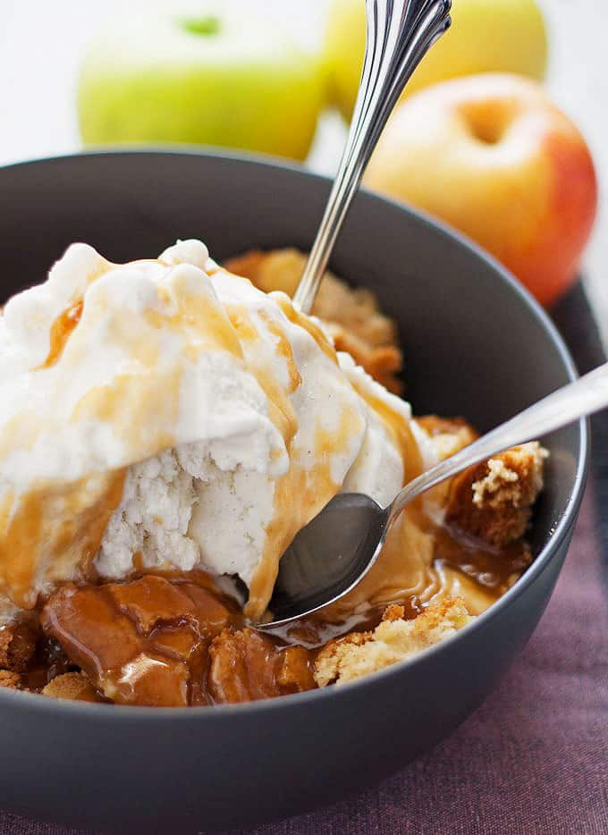 Apple Cake Sundae from Honey & Birch.