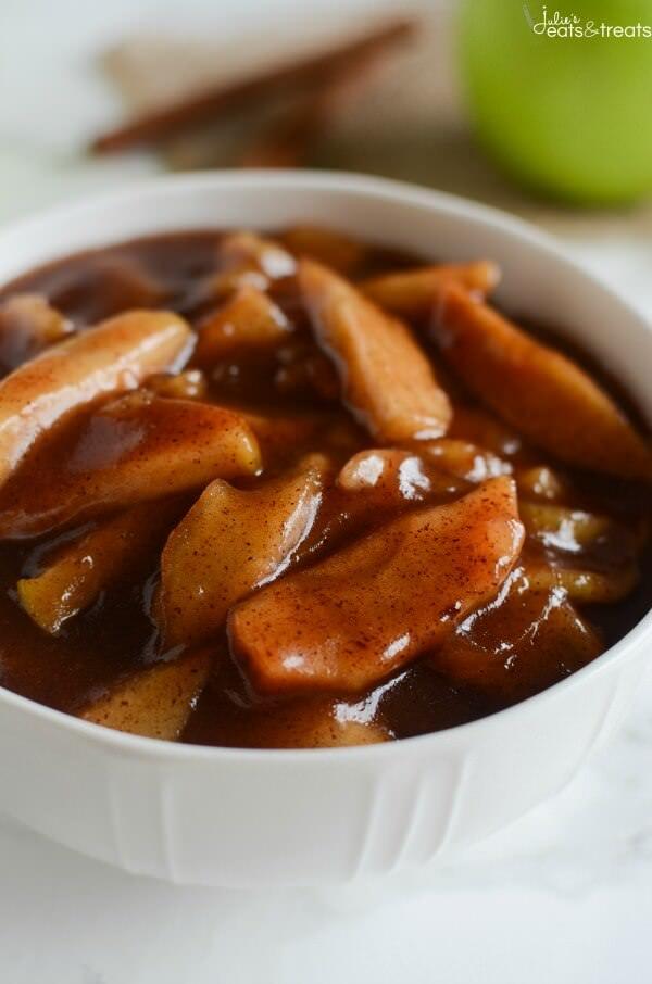 Crockpot Cinnamon Apples from Julie's Eats & Treats.