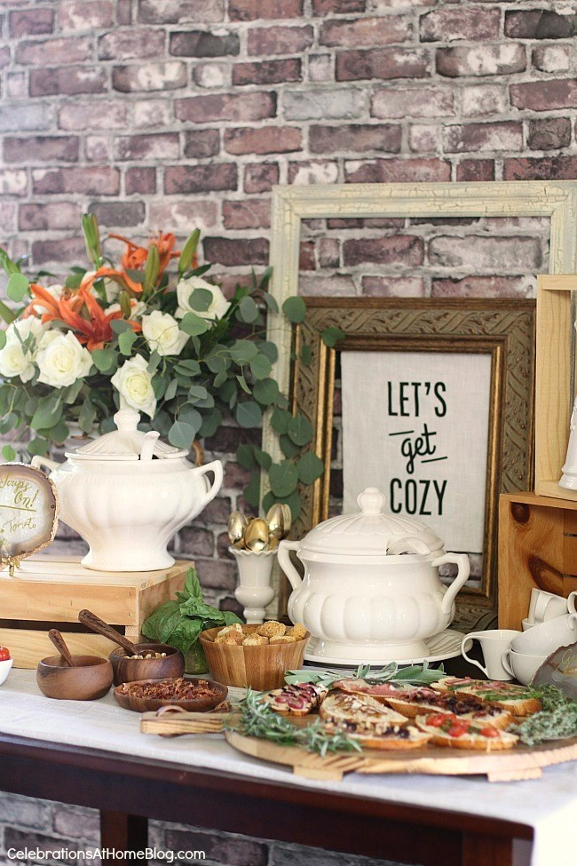 How to Set Up a Soup Bar from Celebrations at Home.