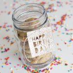 Happy Birthday Glitter Gift Tags